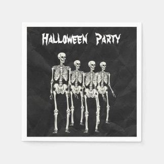 Spooky Skeletons Halloween Party Serviettes Disposable Napkins