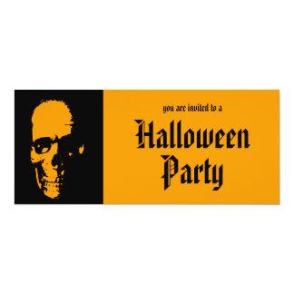 """Spooky Skull Halloween Party Invitation 4"""" X 9.25"""" Invitation Card"""