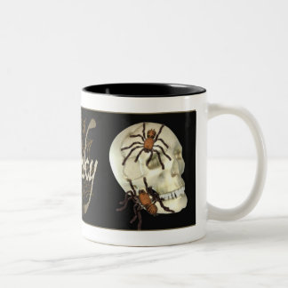 Spooky Skull Two-Tone Coffee Mug