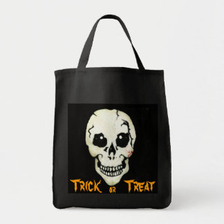 Spooky Skull Trick or Treat Halloween Party Bag