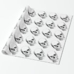 Spooky Skulls Wrapping Paper