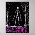 spooky slender man woods poster