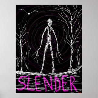 spooky slender man woods print
