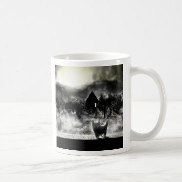 Halloween Themed Spooky Small Grey Cat Mug