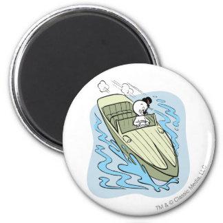 Spooky Speedboat 2 Inch Round Magnet