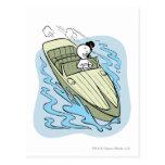 Spooky Speedboat Postcard
