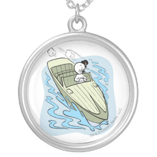 Spooky Speedboat Silver Plated Necklace
