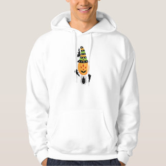 Spooky Spider & Bat Halloween Hooded Pullover