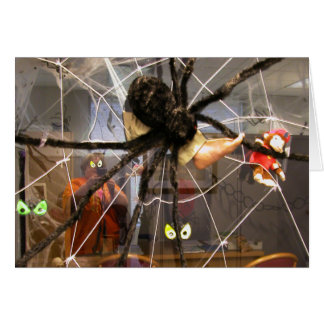 Spooky Spider Halloween Office Decorations Photo Stationery Note Card