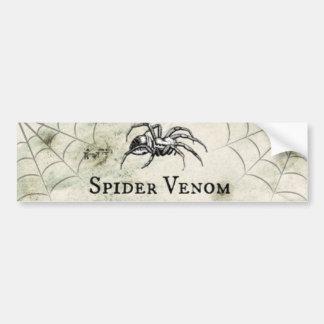Spooky Spider Venom Halloween Car Bumper Sticker