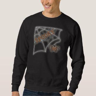 Spooky Spider Web Halloween Design Pullover Sweatshirt