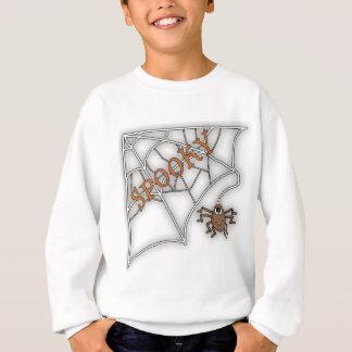 Spooky Spider Web Halloween Design Sweatshirt