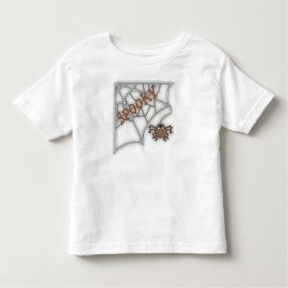Spooky Spider Web Halloween Design T Shirt