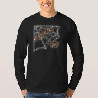 Spooky Spider Web Halloween Design T-Shirt