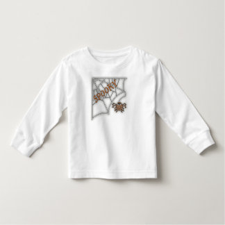 Spooky Spider Web Halloween Design Tee Shirt