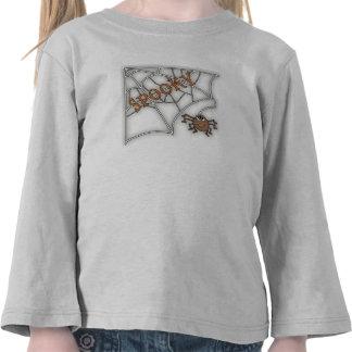 Spooky Spider Web Halloween Design Tees