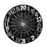 Spooky Spiderweb Halloween Dart Boards