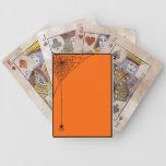 Spooky Spiderwebs Orange and Black Card Decks