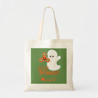 Spooky Spinner Halloween Ghost Personalized Tote