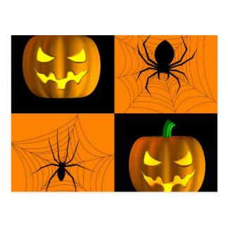 Spooky Squares Halloween Postcard
