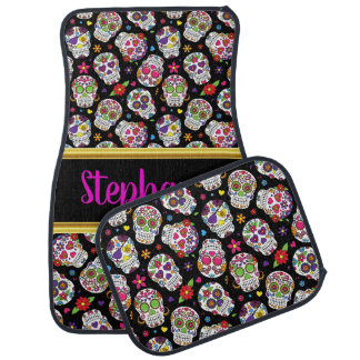 Spooky Sugar skull in many sizes and colors Car Mat