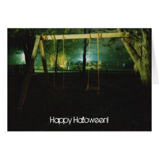 Spooky swingset card