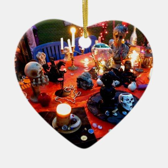Spooky Table Ceramic Ornament