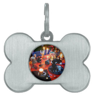 Spooky Table Pet ID Tag
