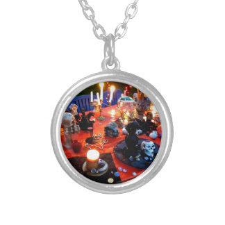 Spooky Table Silver Plated Necklace