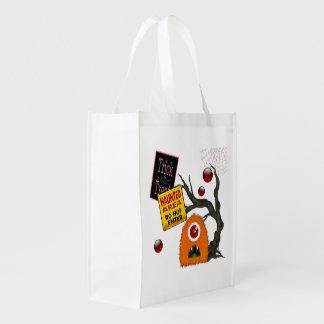 Spooky-Tacular Halloween Treat Grocery Bag
