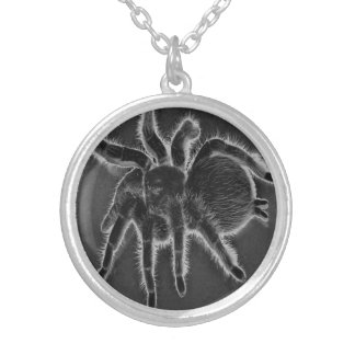 Spooky Tarantula Spider Silver Plated Necklace