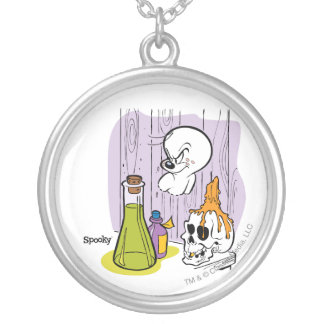 Spooky the Tuff Ghost Silver Plated Necklace
