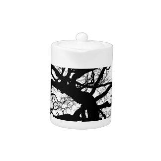 Spooky Tree (Black and White) Teapot