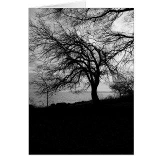 Spooky Tree Card- Edgar Allan Poe Quote
