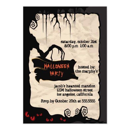 Spooky Tree - Halloween party invitation | Zazzle