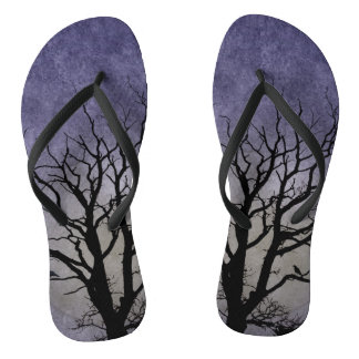 Spooky Tree Halloween Prints Flip Flops