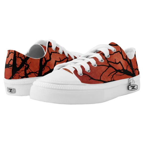 Spooky Tree Halloween Prints Low-Top Sneakers