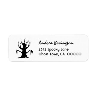 SPOOKY TREE Halloween Theme H27 Return Address Label