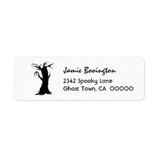 SPOOKY TREE Halloween Theme H28 Return Address Labels