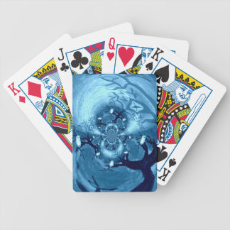 Spooky Tree Owls Bicycle Playing Cards