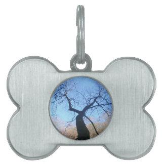 Spooky Tree Pet Name Tag