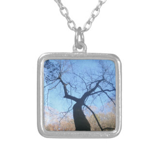 Spooky Tree Silver Plated Necklace