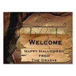 halloween, halloween yard signs, spooky trees,