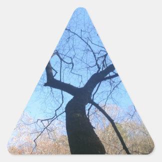 Spooky Tree Triangle Sticker