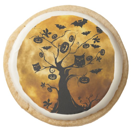 Spooky Tree with Halloween Symbols Cookies