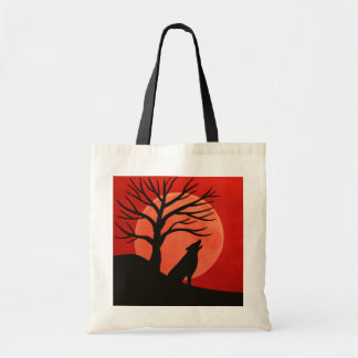 Spooky Tree & Wolf Budget Tote
