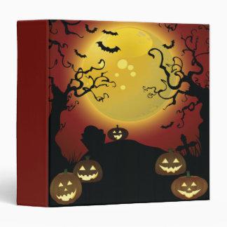 spooky trees Halloween notebook 3 Ring Binders