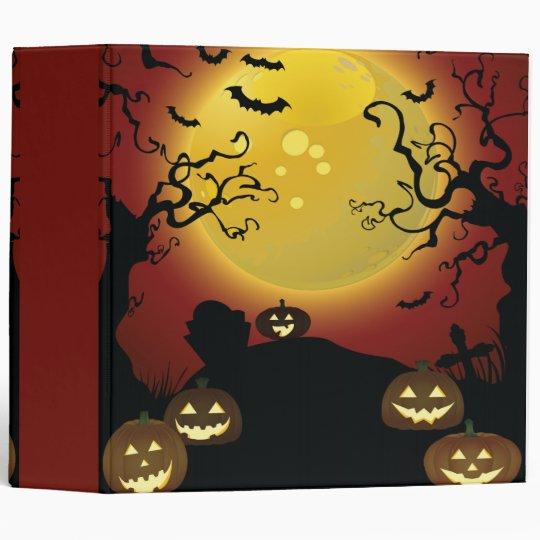 spooky trees Halloween notebook Binder
