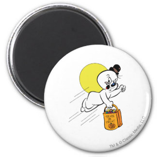 Spooky Trick or Treat 2 2 Inch Round Magnet