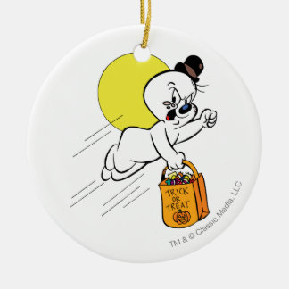 Spooky Trick or Treat 2 Double-Sided Ceramic Round Christmas Ornament